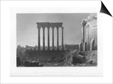Pillars of the Great Temple at Balbec, 1841 Prints by J Sands