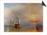 The Fighting Temeraire, 1839 Prints by Joseph Mallord William Turner