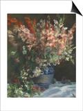 Gladioli in a Vase, C. 1875 Posters by Pierre-Auguste Renoir