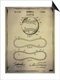 Baseball Patent Buff Prints