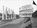 Colosseum from Temple Poster by Philip Gendreau