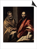 The Apostles St. Peter and St. Paul, 1587-1592 Prints by  El Greco