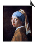 Girl with a Pearl Earring, C1665 Prints by Jan Vermeer