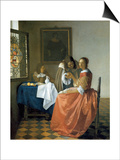 The Girl with the Wineglass, 1659-1660 Art by Jan Vermeer