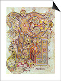 Monogram Page from the Book of Kells Christi Auteum Generatio, C800 Poster