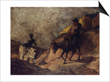 Don Quixote and Sancho Panza, 1866-1867 Posters by Honoré Daumier