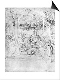 Study for the Adoration of the Magi, 15th Century Prints by  Leonardo da Vinci