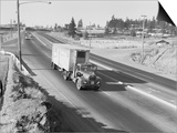 Truck Transporting Delivery to Safeway Prints by Ray Krantz