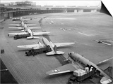 C-47S Unloading at Tempelhof Airport During the Berlin Airlift, June-August 1948 Art
