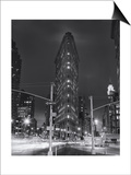 Flatiron Building, New York City at Night 2 Print by Henri Silberman