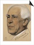 Portrait of the Regisseur Konstantin S. Stanislavsky (1863-193), 1921 Prints by Nikolai Andreevich Andreev