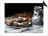 Still Life with Oysters, 19th Century Prints by Antoine Vollon