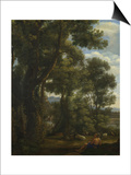 Landscape with a Goatherd and Goats, Ca 1637 Prints by Claude Lorrain