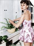 Audrey Hepburn Creates a Flower Arrangement, Ca. Early 1950s Prints