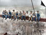 New York Construction Workers Lunching on a Crossbeam Prints