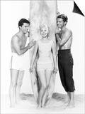 Gidget, from Left: James Darren, Sandra Dee, Cliff Robertson, 1961 Print