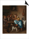 Children Teaching a Cat to Dance (The Dancing Lesso), Between 1660 and 1670 Posters by Jan Havicksz Steen