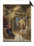 The Annunciation, 1570-1572 Prints by  El Greco