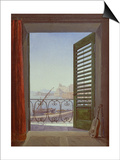Balcony Room with a View of the Bay of Naples, C. 1829 Print by Carl Gustav Carus