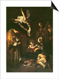 Nativity with St. Francis and St. Lawrence, 1609 Reprodukcje autor Caravaggio