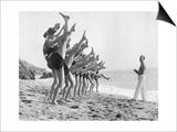Gymnastik am Strand, 1926 Arte por  Scherl