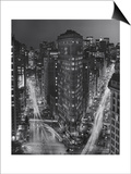Flatiron Building, New York City at Night 3 Prints by Henri Silberman