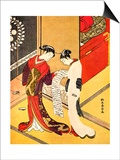 Reading the Letter, C1750 Posters by Suzuki Harunobu