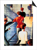 Stairs to the Bauhaus, 1932 Poster by Oskar Schlemmer