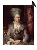 Queen Charlotte of the United Kingdom (1744-181), 1777 Posters by Benjamin West