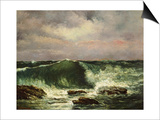 La vague Posters par Gustave Courbet