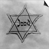 Yellow and Black Star Which the Jews Were Required to Wear in Occupied Holland During World War 2 Prints