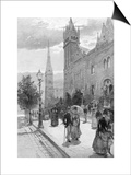 Collins Street East on a Sunday Morning, Melbourne, Victoria, Australia, 1886 Posters by WJ Smedley