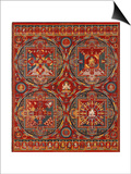 Sakya Order, Four Mandalas of the Vajravali Series (Thangk) Print