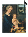 Madonna and Child with the Milk Soup, 1510-1515 Prints by Gerard David