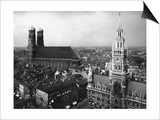 Frauenkirche and New Town Hall in Munich Prints by  Scherl