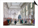 The Great Hall at Bank of England, City of London, 1809 Prints by Augustus Charles Pugin