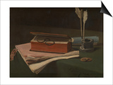 Still Life with Book, Papers and Inkwell, 1876 Posters by Francois Bonvin