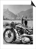 A Motorcycle Trip Alongside the Rhein River, 1936 Prints by  Scherl