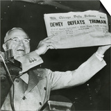 Harry S. Truman, President-Elect, Holds Up Edition of Chicago Daily Tribune Posters