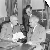 President Harry Truman Meeting with Pm David Ben-Gurion (Seated) and Ambassador Abba Eban of Israel Prints