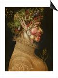 Summer, 1563 Kunst af Giuseppe Arcimboldo