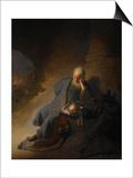 Jeremiah Lamenting the Destruction of Jerusalem, 1630 Posters by  Rembrandt van Rijn