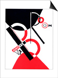"""Cover for the Magazine """"Broom"""" Posters by El Lissitzky"""