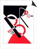 "Cover for the Magazine ""Broom"" Pôsters por El Lissitzky"
