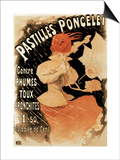 Advertising Poster for Pastilles Poncelet, a Cold and Bronchitis Remedy, 1896 Posters by Jules Chéret
