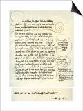Draft of Albrecht Durer's Dedication to Bilibald Pirckheimer, C1523 Affiches par Albrecht Durer