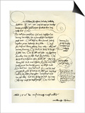 Draft of Albrecht Durer's Dedication to Bilibald Pirckheimer, C1523 Prints by Albrecht Durer