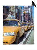 Yellow Cabs, Times Square, New York City 2 Posters by Henri Silberman