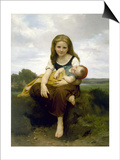 The Elder Sister (La Soeur Aine), 1869 Prints by William-Adolphe Bouguereau