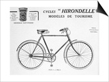 Hirondelle Saint Etienne Bicycle Tourism Advertisement, 20th Century Posters